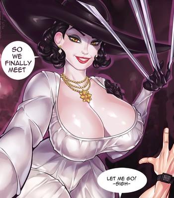 Lady Dimitrescu in The Intruder comic porn sex 002