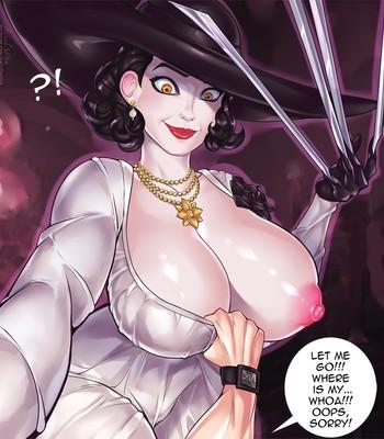 Lady Dimitrescu in The Intruder comic porn sex 003