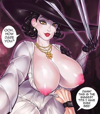 Lady Dimitrescu in The Intruder comic porn sex 004