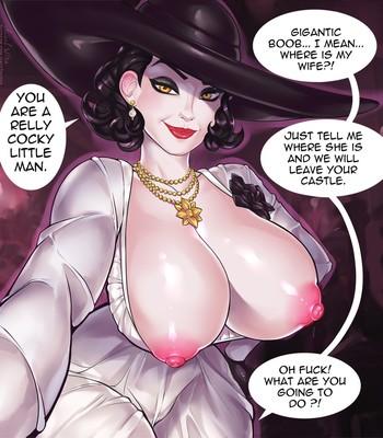 Lady Dimitrescu in The Intruder comic porn sex 005