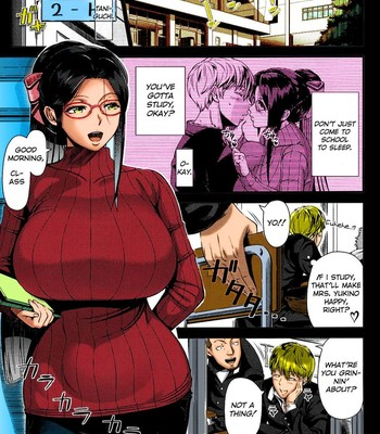 Mrs. Yukino's Sex Education Colored and Black & White comic porn sex 005