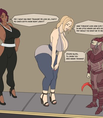 Tsunade and Yoruichi-InstantLoss comic porn sex 001