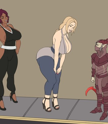 Tsunade and Yoruichi-InstantLoss comic porn sex 004