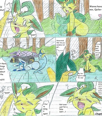 Leafeon X Quilava comic porn sex 016
