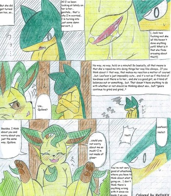 Leafeon X Quilava comic porn sex 041