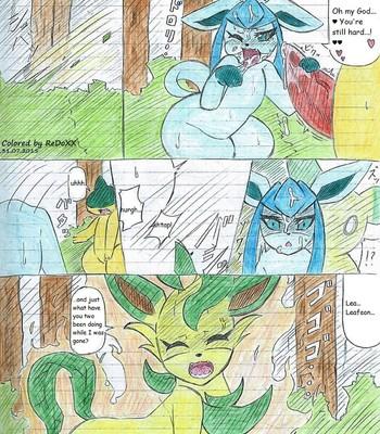 Leafeon X Quilava comic porn sex 057