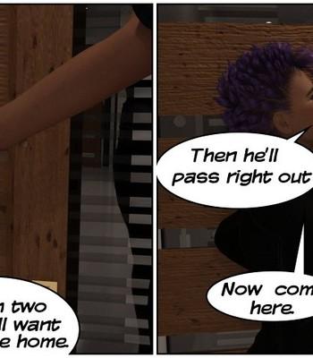 Futa Babysitter Lizzie comic porn sex 004