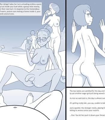 Nude Beach CYOA (ongoing) comic porn sex 009